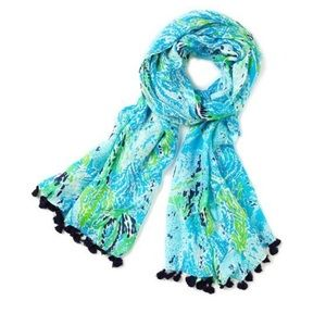 Lilly Pulitzer Scarf in Spa Blue lets cha cha